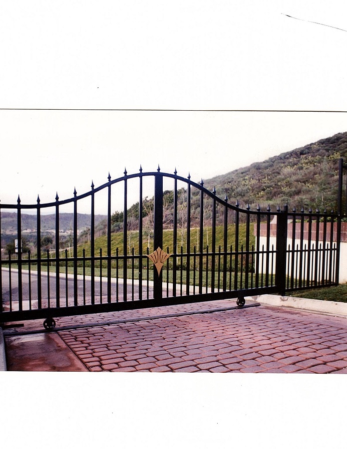 Iron Gate for driveway, wrought iron gates, fences, ornamental steel